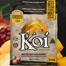 KOI CBD TROPICAL FRUIT SOFT GUMMIES