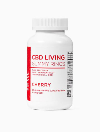 CBD Living Cherry Gummy Rings (30 ct)