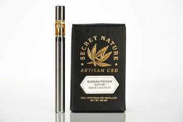 Secret Nature CBD Vape Pen Cartridge 500mg - Durban Poison (Sativa)