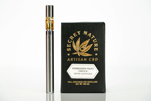 Secret Nature CBD Vape Pen Cartridge 500mg - Forbidden Fruit (Indica)