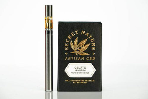 Secret Nature CBD Vape Pen Cartridge 500mg - Gelato (Hybrid)