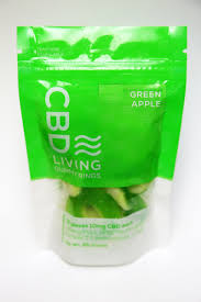 CBD Living Gummy Rings Bag Green Apple 100mg