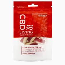 CBD Living Gummy Rings Bag Cherry 100mg