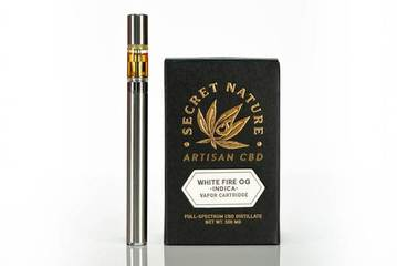 Secret Nature CBD Vape Pen Cartridge 500mg - White Fire OG (Indica)