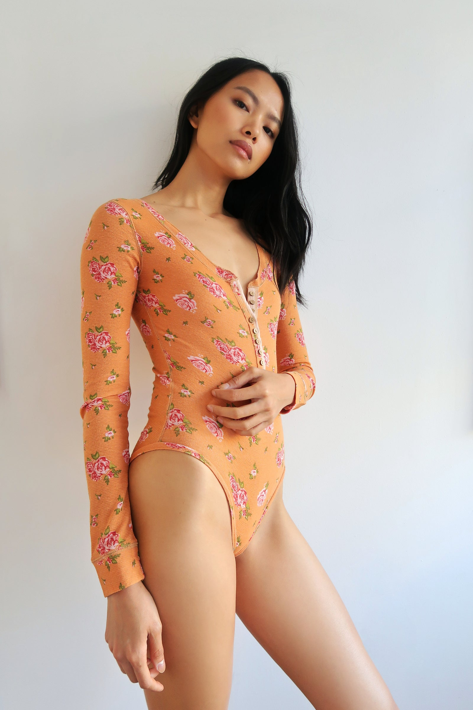 Printed Dylan Thermal Bodysuit