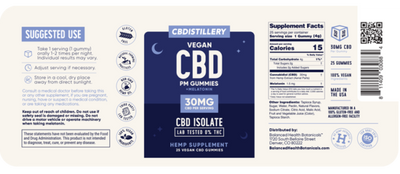 CBD Nighttime Gummies w/ Melatonin