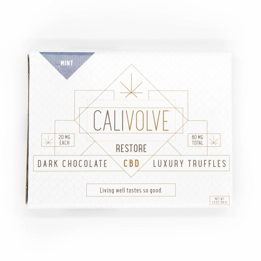 CBD Dark Chocolate Truffles - Mint Box
