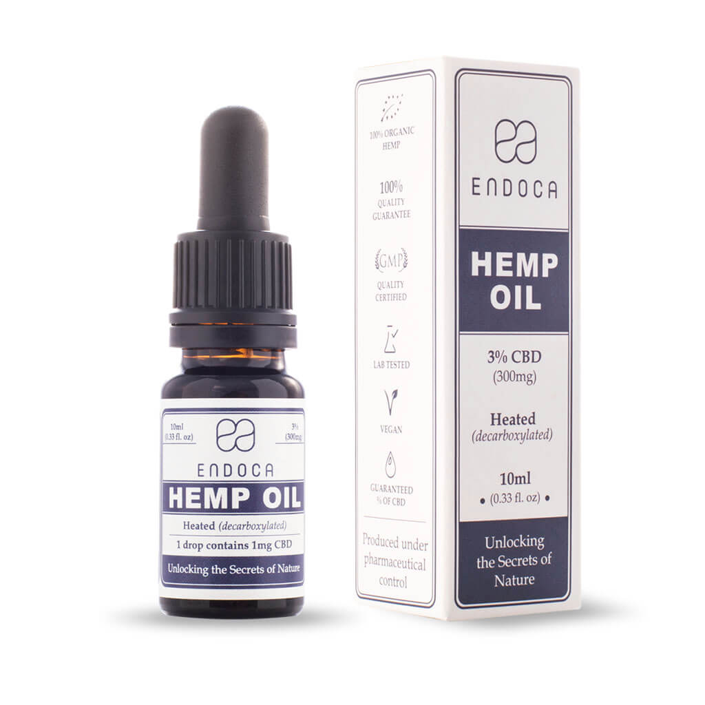 Organic Hemp Oil CBD Drops Tincture Medium - 300mg