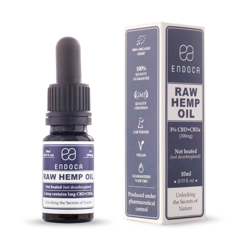 Raw Organic Hemp Oil CBD Drops Tincture Medium- 300mg