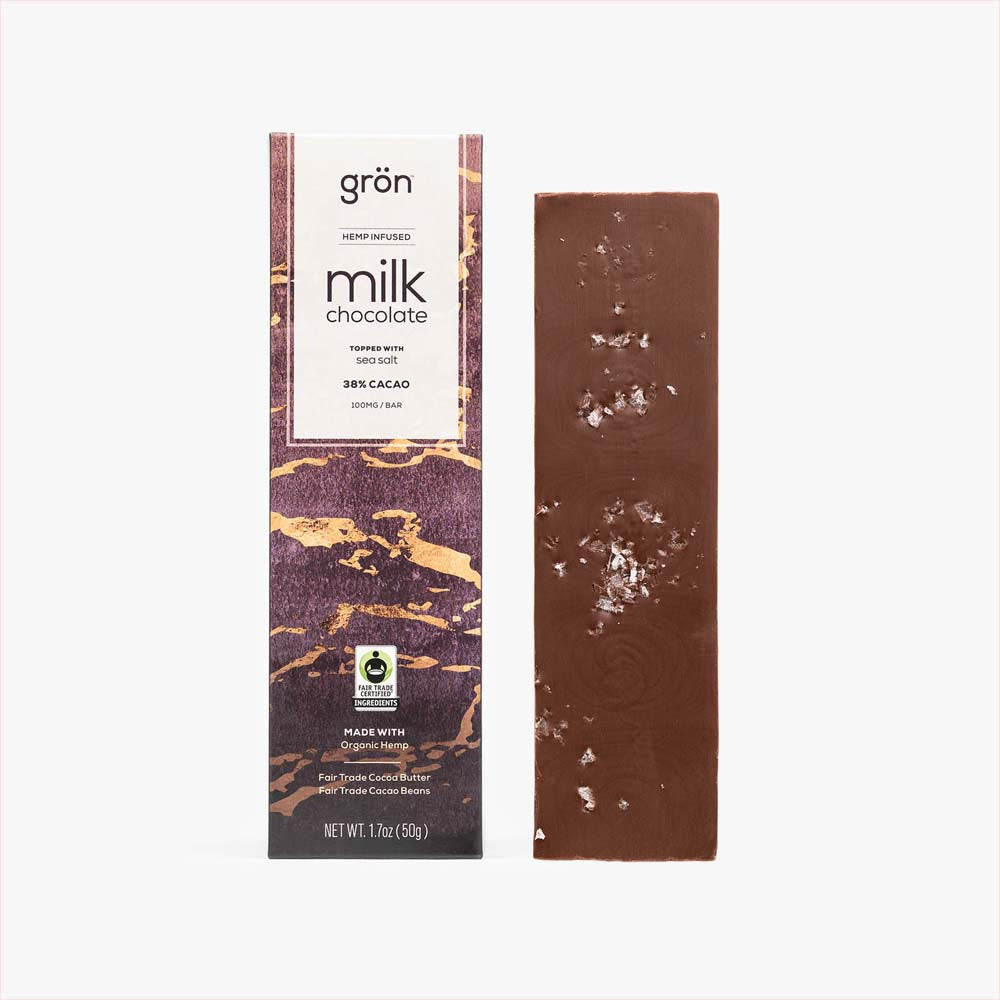 100mg CBD Milk Chocolate Bar with Sea Salt