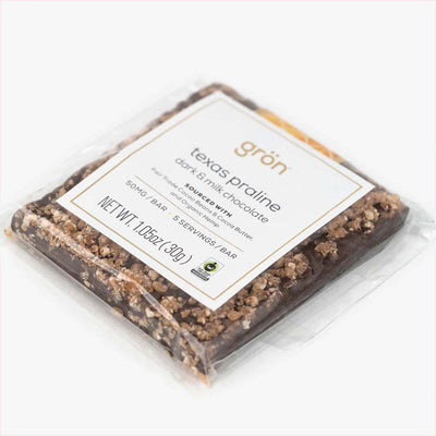 50mg CBD Texas Praline Dark and Milk Chocolate Bar