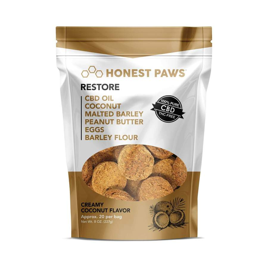Restore – Creamy Coconut CBD Dog Treats