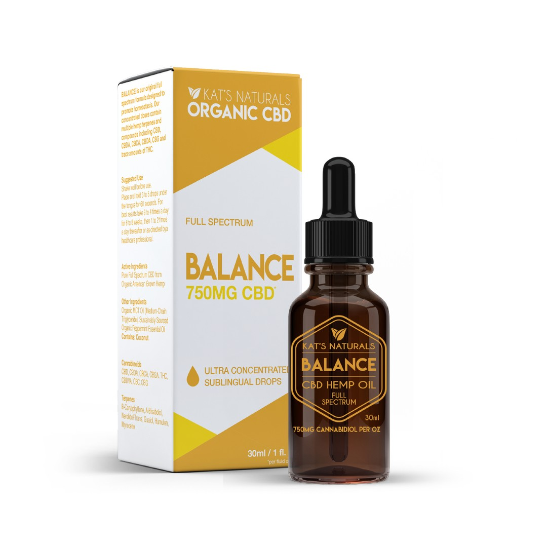 Balance Organic Sublingual CBD Oil 125-750mg