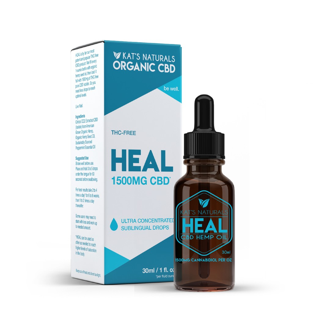 Heal Organic Sublingual CBD Oil 250-1500mg