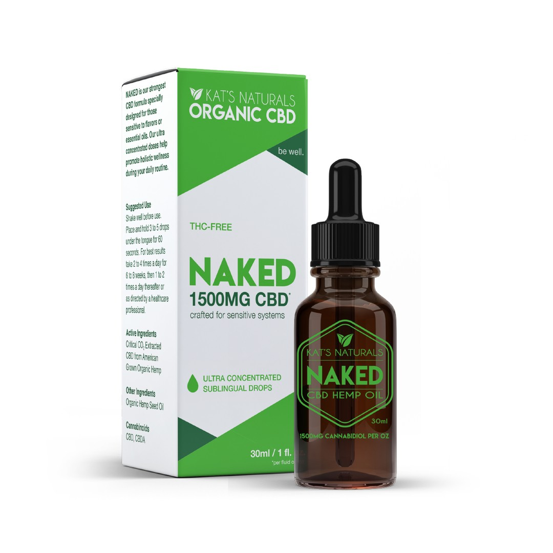 Naked Organic Sublingual CBD Oil 250-1500mg