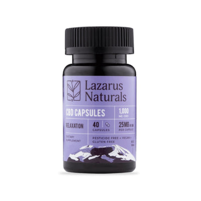 Relaxation Blend 25mg CBD Capsules