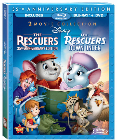 'Rescuers/Rescuers Down Under' Blu-ray/DVD