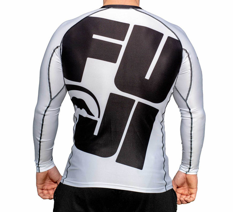 Fuji Big Logo Rash guard Long sleeve white back