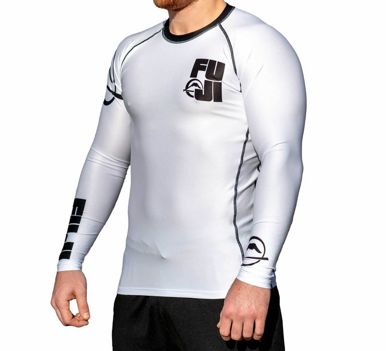 Fuji Big Logo Rash guard Long sleeve white side left