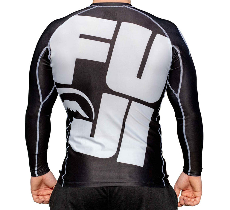 Fuji Big Logo Rash guard Long sleeve black back
