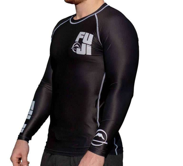 Fuji Big Logo Rash guard Long sleeve black side right