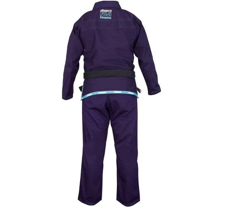 The Fuji Sports Suparaito Navy Womens BJJ Gi back 1600x1600