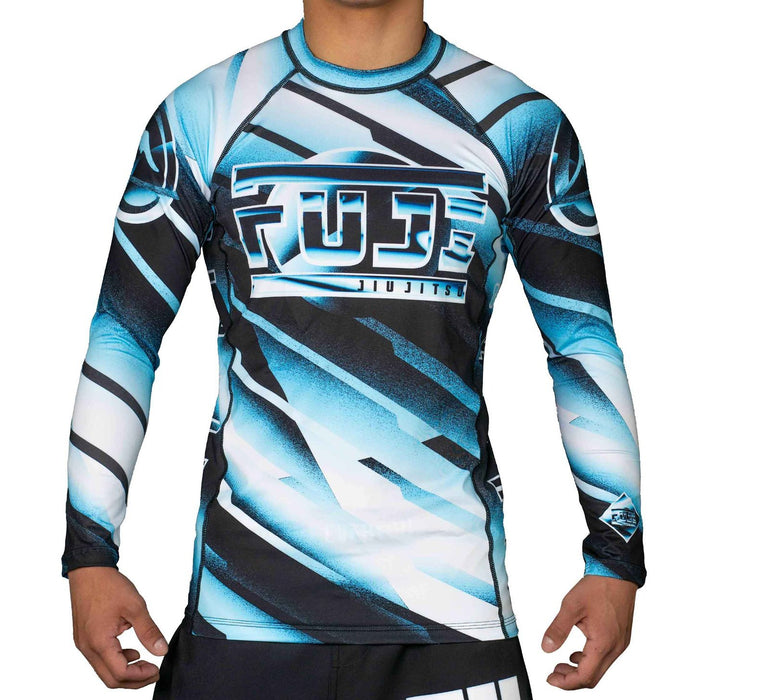 Fuji Ice Rashguard Long Sleeve blue front