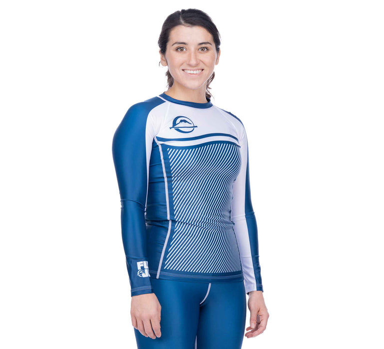 Fuji Script Women's Long Sleeve Rashguard