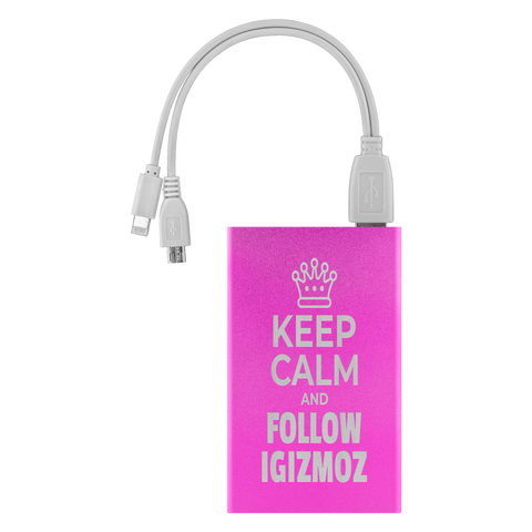 Keep Calm And Follow IGIZMOZ - Power Bank  | igizmoz.com