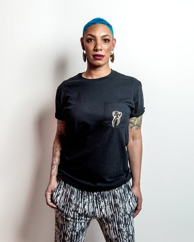 Gold Tooth Pocket Tee - Black (S-3X)