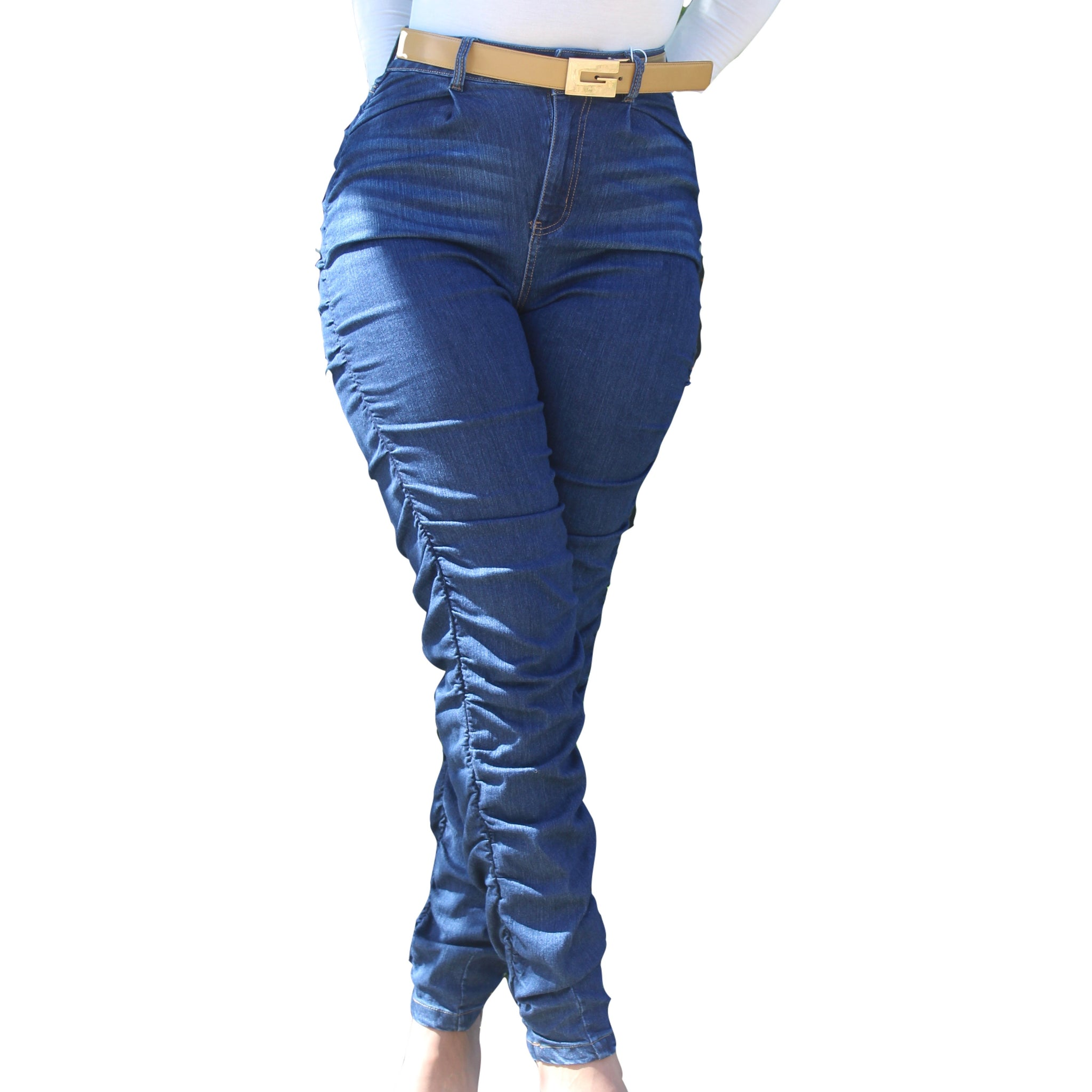 Blue Your Mind Denim Scrunch Jeans