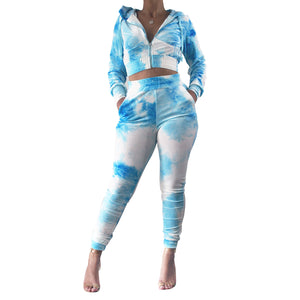 Blue Your Mind Tye Dye Jogger