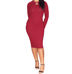 Got Me Twisted Midi Dress-Wine