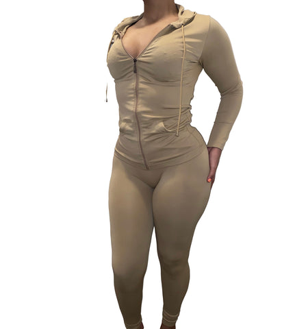 Keep It Cute 2 Piece Set-Khaki
