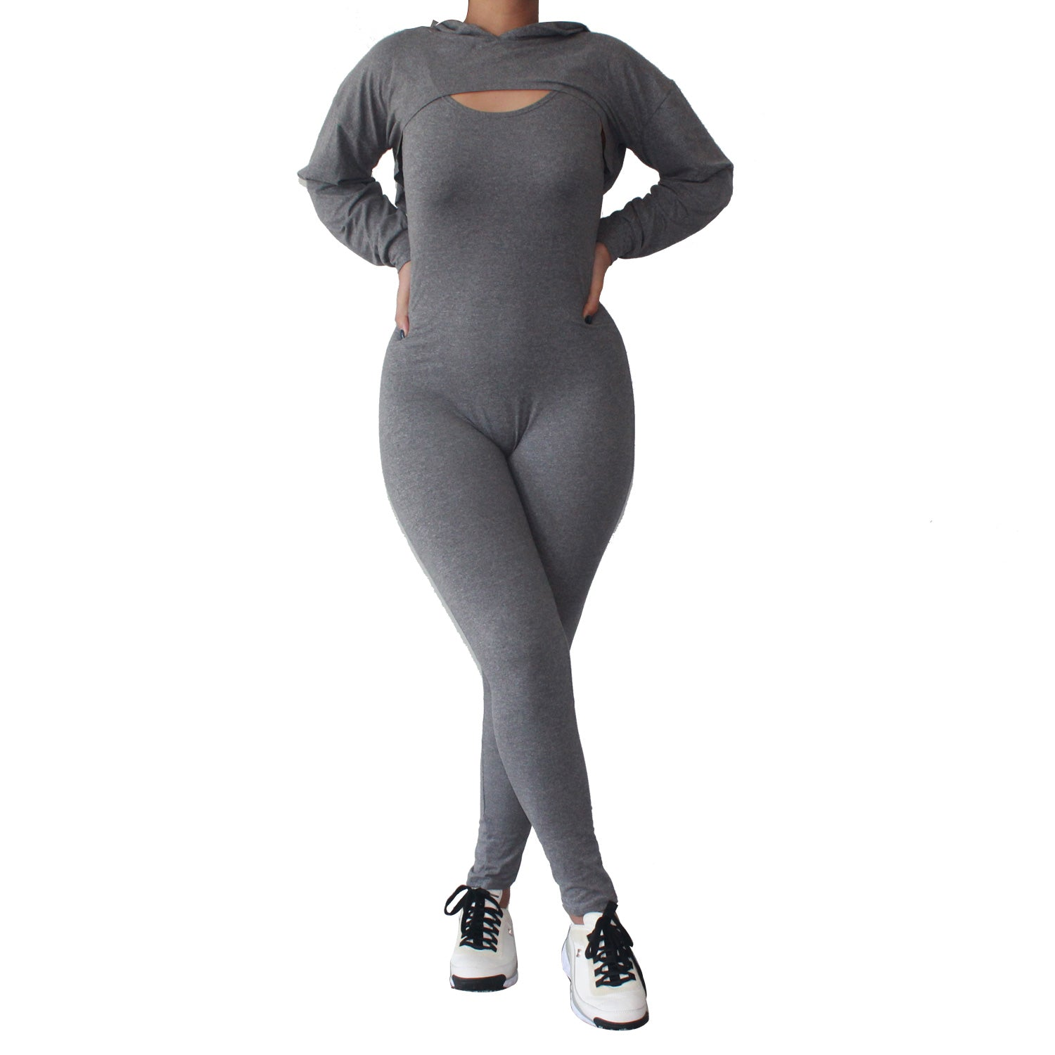 Run The City Two Piece Set-Charcoal