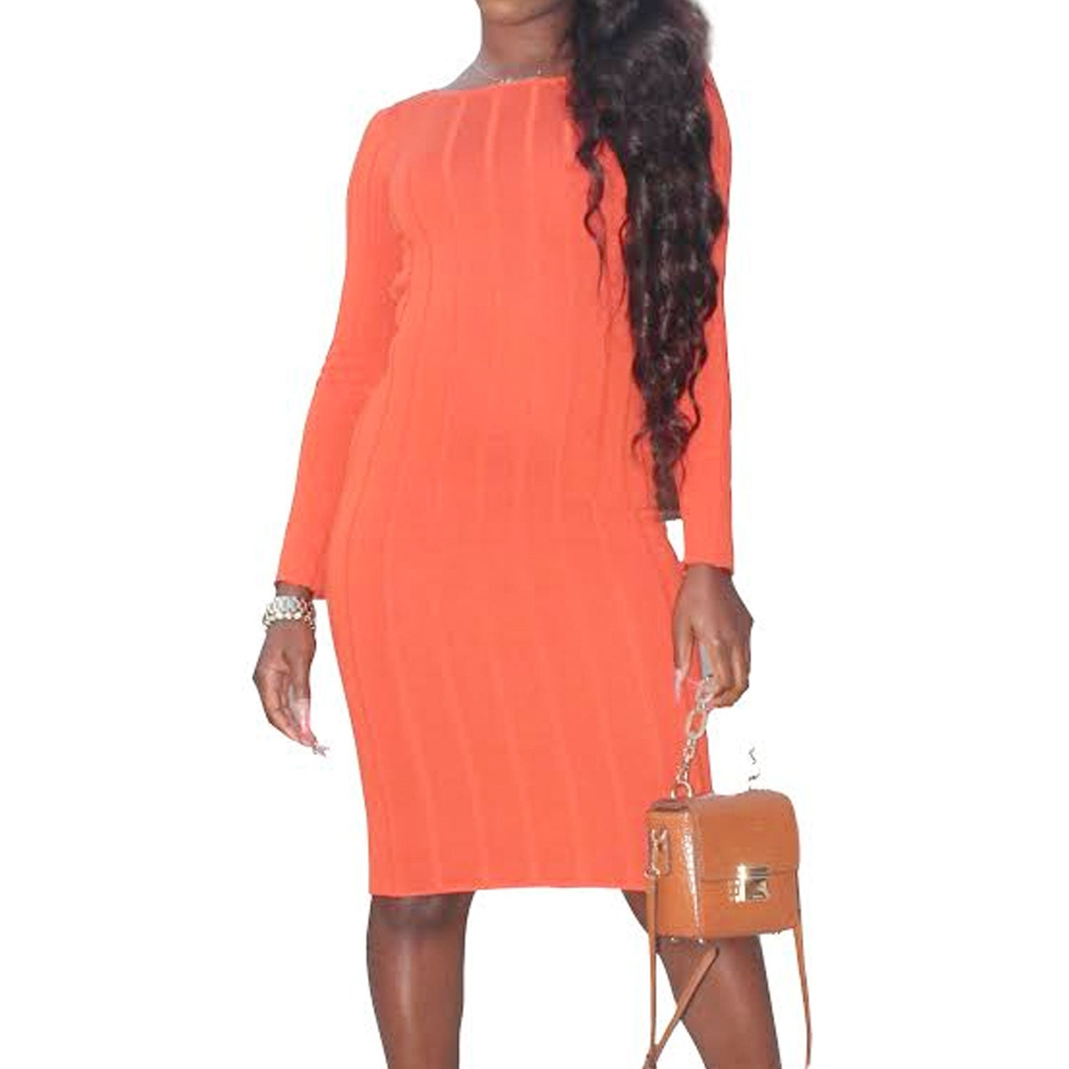 Out Back Ribbed Midi Dress