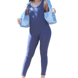 Like A Glove One Piece Jumpsuit- Navy