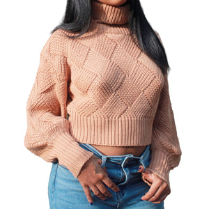 The Diamond Crop Sweater