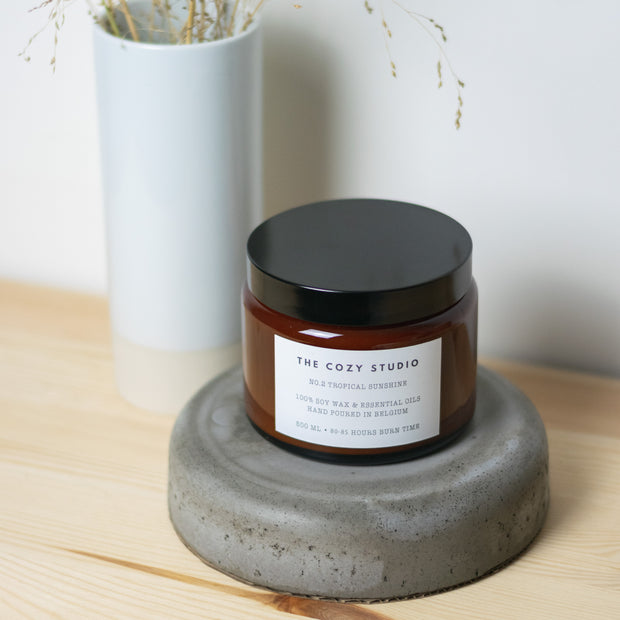 Tropical Sunshine Soy Candle - The Cozy Studio