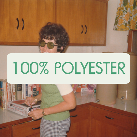 What is polyester made of?