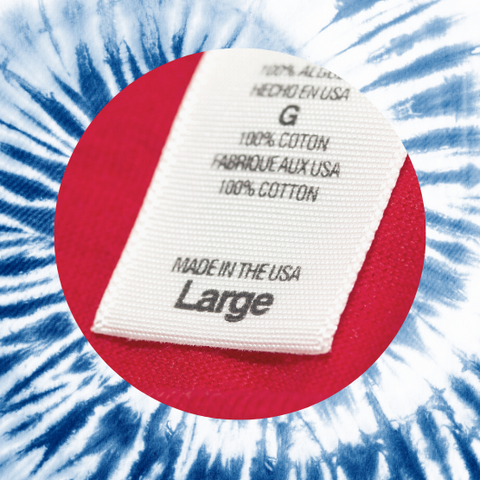 Made in America clothing tag