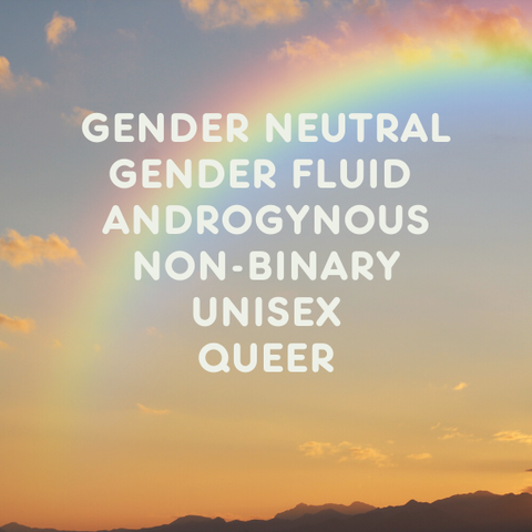 Gender nuetral gender fluid androgynous non-binary unisex and queer clothing