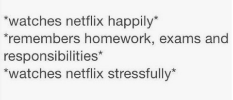Watches netflix happily vs stressfully meme