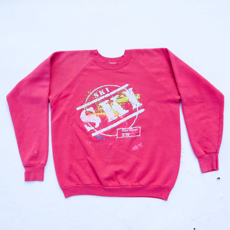 Vintage 90s Puffy Paint SKI Red River, NM Crewneck Sweatshirt