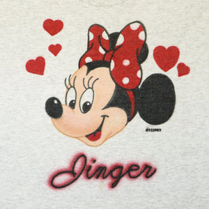 Vintage 90s Minnie Mouse Airbrush T-Shirt with Double Lined Sleeves