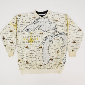 Vintage 90s Shipwrecks of The Great Lakes Crewneck Sweatshirt