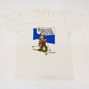 Vintage 80s 'Ski Bunny' Kimball Concepts Single Stitch T-Shirt