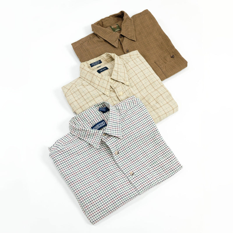 4 Pack of Cotton Long Sleeve Button Down Shirts