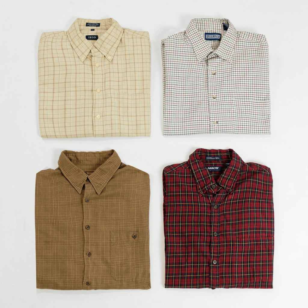 Cotton Long Sleeve Button Down Shirts