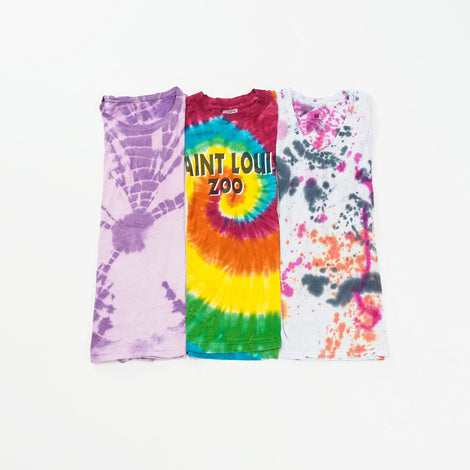 Preloved Tie Dye T-Shirts | Set of 3